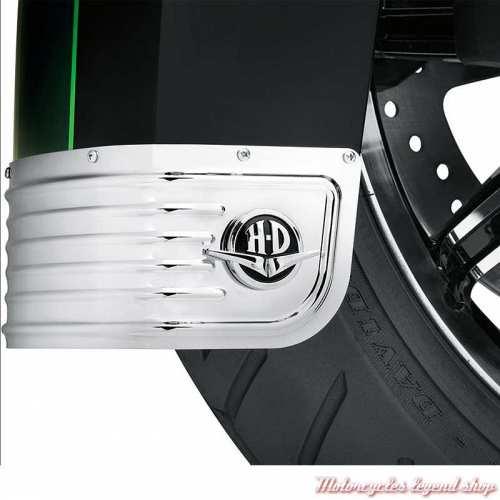 Médaillons de jupe de garde-boue Harley-Davidson, chromé, visuel, 14100748