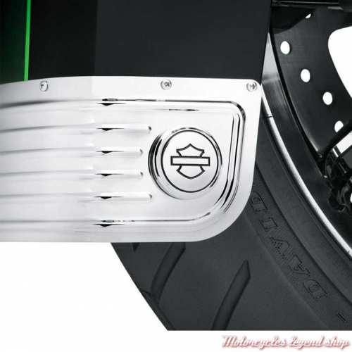 Médaillons de jupe de garde-boue Harley-Davidson , chromé, visuel, 14100747