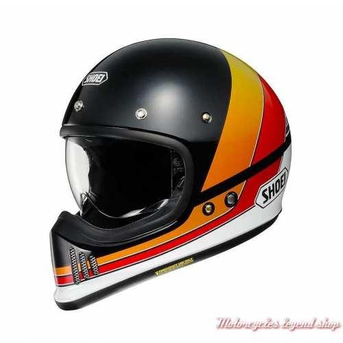 Casque intégral EX-ZERO Equation TC-10 Shoei, noir, orange, rouge, blanc, réplique série EX des années 80