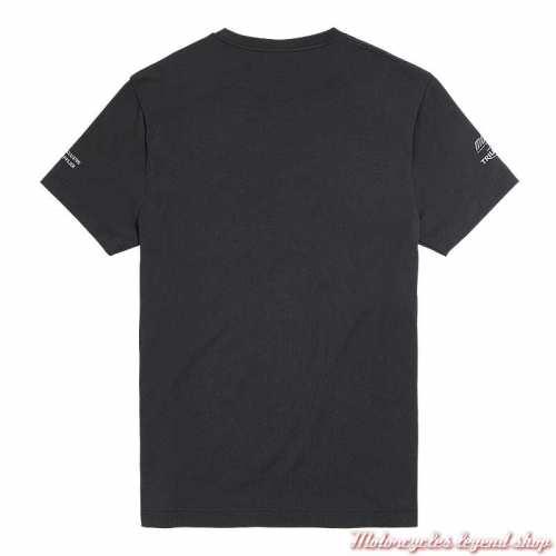 Tee-shirt Moto2 2020 Triumph homme, noir, manches courtes, poche poitrine, coton, dos, MTSS20501