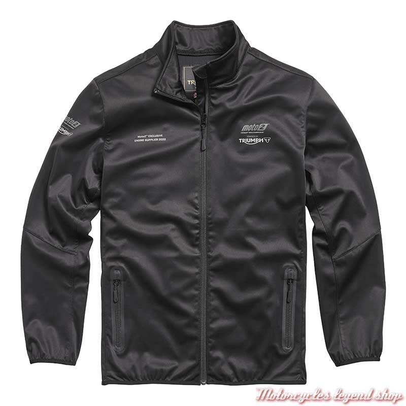 Veste soft shell Moto2 2020 Triumph homme, noir, MSWS20504
