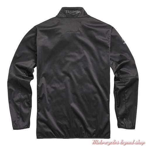 Veste soft shell Moto2 2020 Triumph homme, noir, dos, MSWS20504