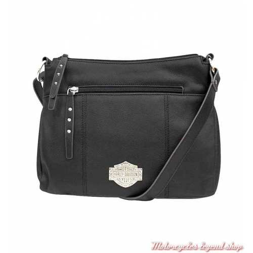 Sac à bandoulière cuir Bar & Shield Filigree Harley-Davidson FGB9437-BLACK