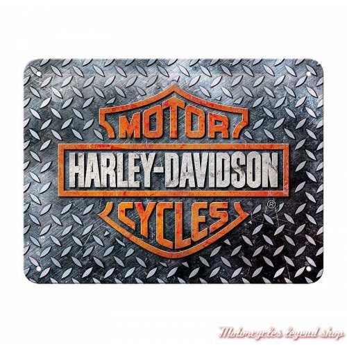 Plaque métal Bar & Shield Galva Harley-Davidson, 15 x 20 cm, 26250