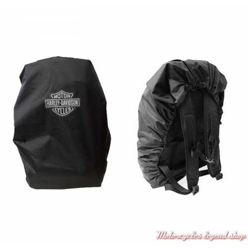 Housse de sac à dos imperméable Harley-Davidson, noir, BP7306S-BLACK