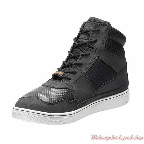 Baskets Eagleson Harley-Davidson homme, cuir, mesh, noir, waterproof, D93555-2