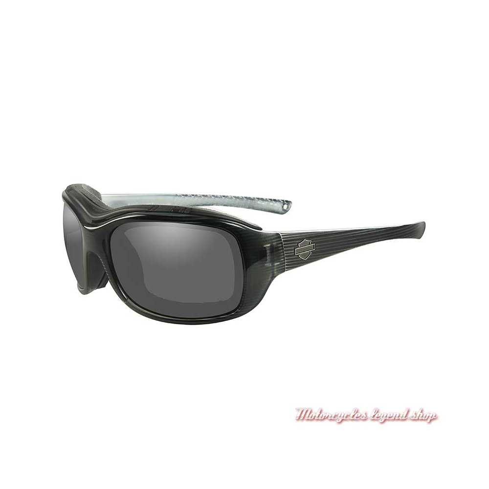 Lunettes solaire Journey Harley-Davidson, noir strié, cavité intérieur amovible, HDJNY02