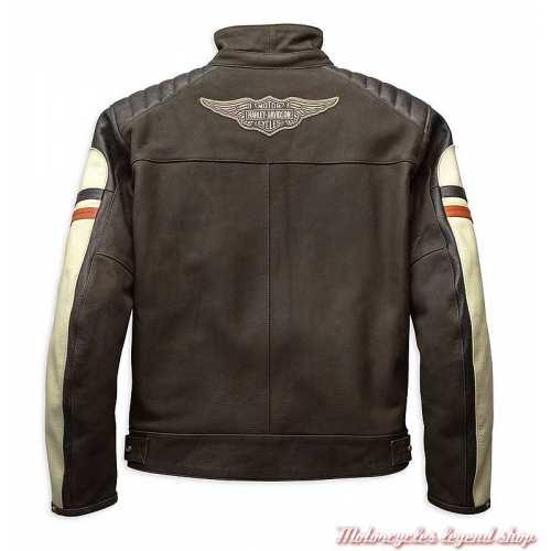 Blouson cuir Rayland Harley-Davidson homme, marron, vintage, CE, dos, 98042-19EM