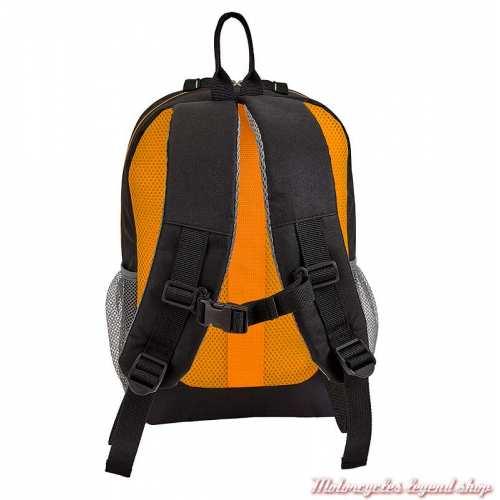Mini sac à dos enfant textile Grandpa's Harley-Davidson, noir, orange, dos, 99842