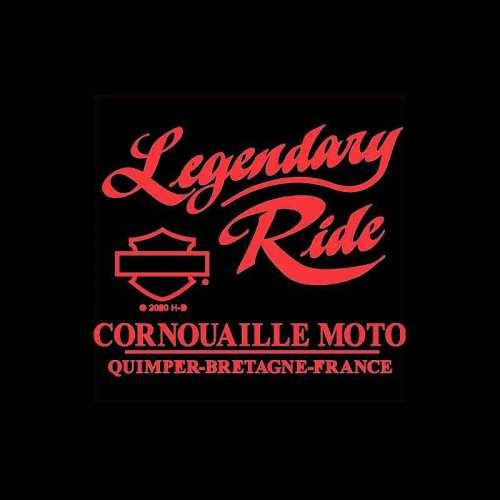 T-shirt Refined G Harley-Davidson femme, noir, coton, manches courtes, backprint Cornouaille Moto Quimper Bretagne R003597