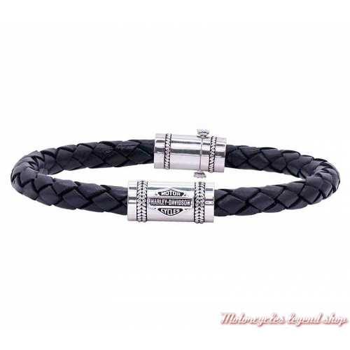 Bracelet cuir Bar & Shield Harley-Davidson homme