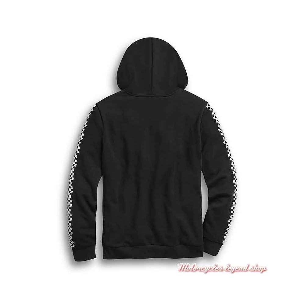 Sweatshirt Checkered Harley-Davidson homme, noir, à capuche, damier, dos, 99031-20VM