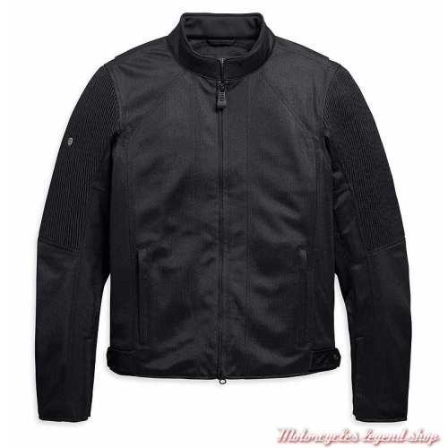 Blouson textile Ozello Harley-Davidson homme, mesh noir, H-D Moto, 98157-20EM