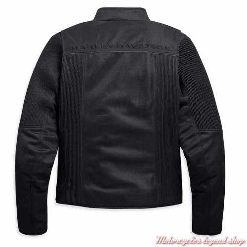 Blouson textile Ozello Harley-Davidson homme, mesh noir, H-D Moto, dos, 98157-20EM