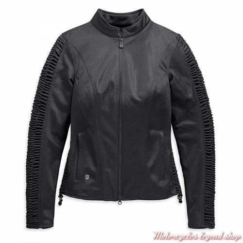 Blouson textile Ozello Harley-Davidson femme, mesh noir, H-D Moto, 98164-20EW