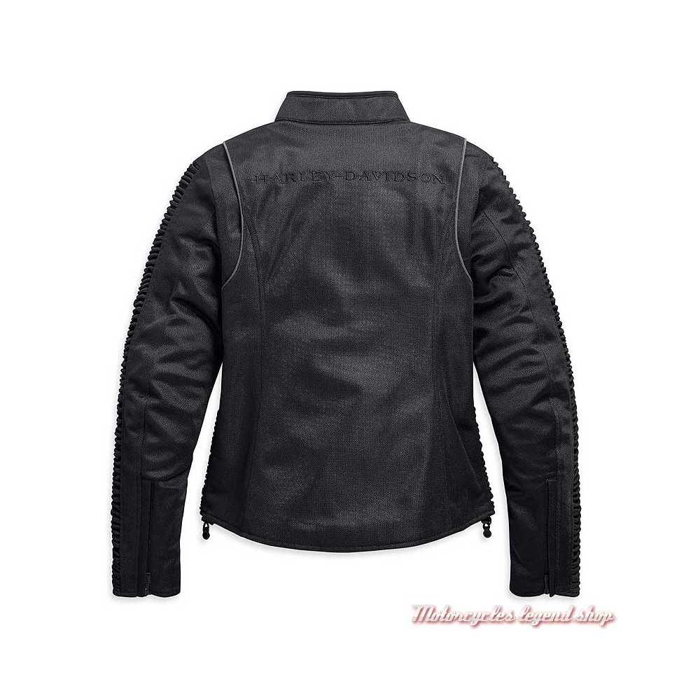 Blouson textile Ozello Harley-Davidson femme, mesh noir, H-D Moto, dos, 98164-20EW