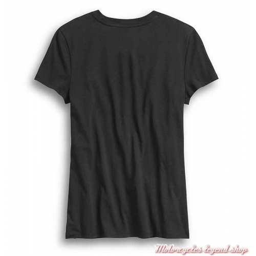 Tee-shirt Tank Harley-Davidson femme, noir, manches courtes, coton, dos, 96362-20VW