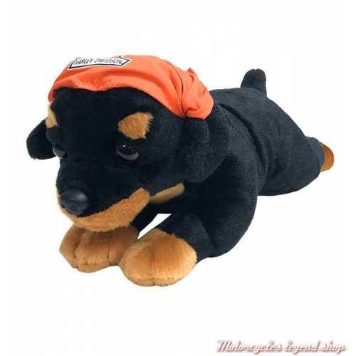 Peluche chiot Rottweiler Rebel Harley-Davidson, noir, 35 cm, 9900853