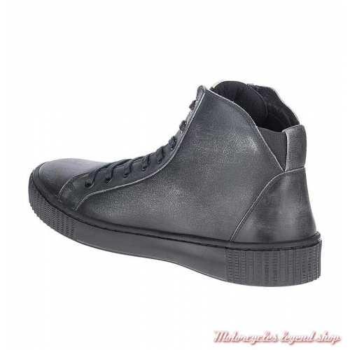Baskets Barren Harley-Davidson homme, noir vieilli, lacets et semelle noire, D93664-2