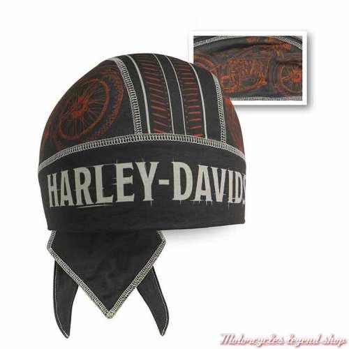 Zandana Timeline Harley-Davidson homme, noir, orange, polyester, HW34530