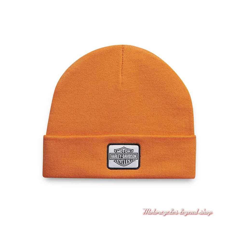 Bonnet Traditional Logo Harley-Davidson tricot orange, acrylique, 97642-21VM