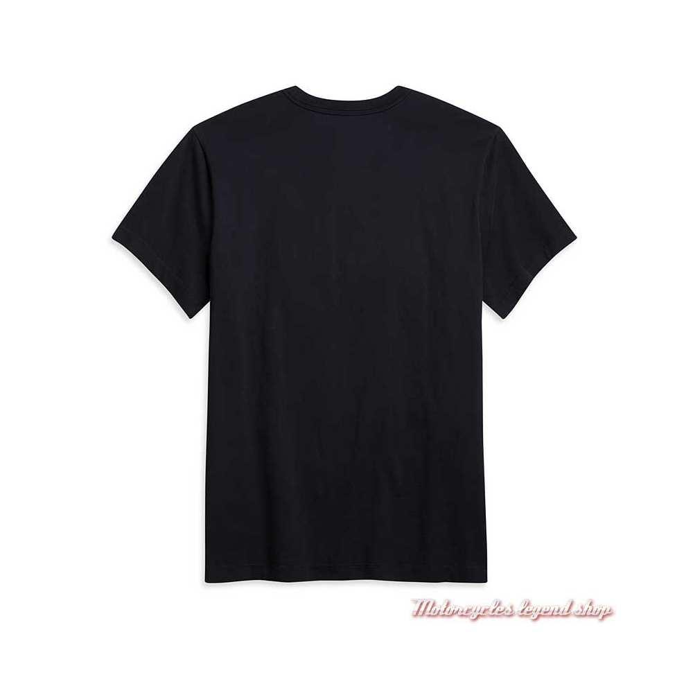 Tee-shirt Vintage Bar & Shield Harley-Davidson homme, noir gris, manches courtes, coton, dos, 96101-21VM
