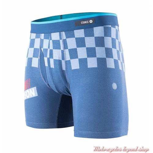 Boxer Speedster Harley-Davidson homme, bleu, damier, M801B19SPE