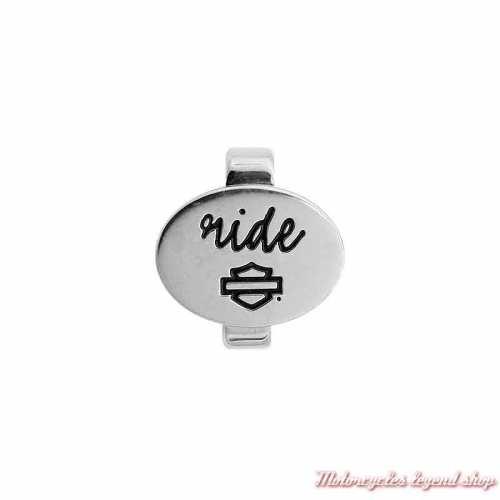 Charm Ride Silver pour bracelet Rally Harley-Davidson HSC0100