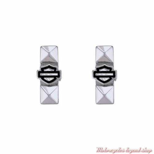 2 petits charms Bar & Shield Silver Pyramide pour bracelet Rally Harley-Davidson HSC0162