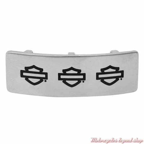 Plaque Triple Bar & Shield Silver pour bracelet Rally Harley-Davidson HSP0101