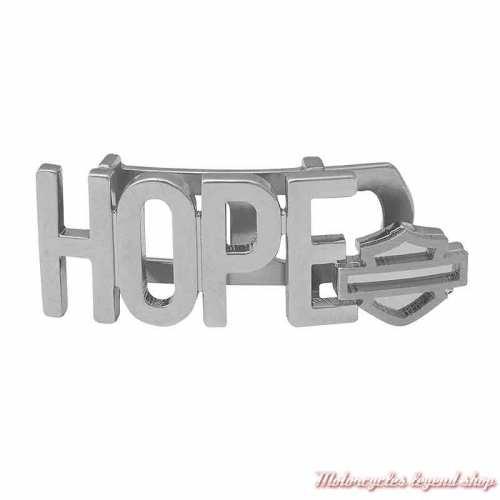 Plaque Hope Silver pour bracelet Rally Harley-Davidson HSP0102