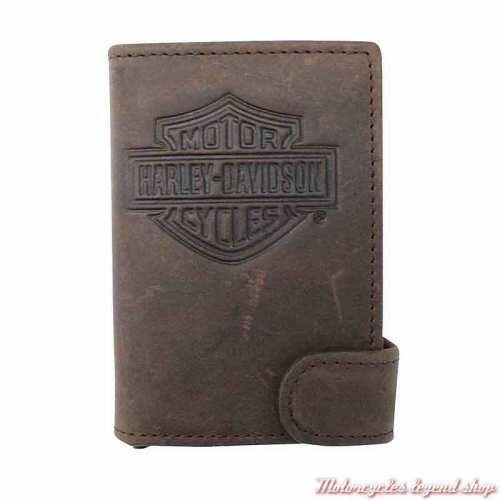 Porte cartes cuir marron Click Harley-Davidson MCH8428-BRNBLK