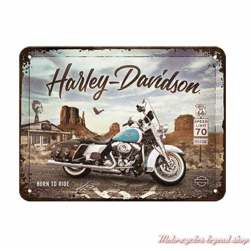 Plaque métal Route 66 Harley-Davidson