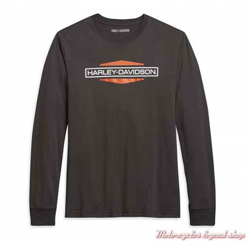 Tee-shirt Bound by Metal Harley-Davidson homme, noir, manches longues, coton, 96022-21VM