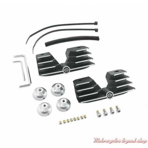 Kit de ponts de vis de culasses à ailettes Harley-Davidson Twin cam noir surbrillance 43859-00