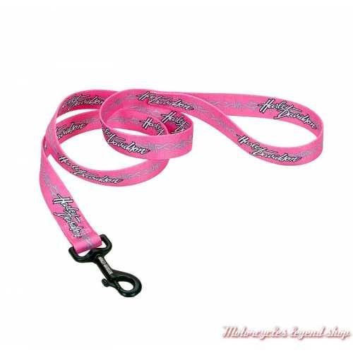 Laisse pour chien en nylon Pink Harley-Davidson 120 cm H0964, 180 cm H0966