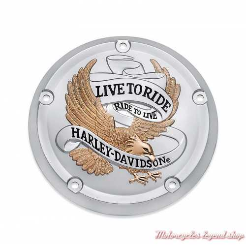 Trappe d'embrayage Live to Ride Harley-Davidson Softail, gold et chrome, 25700961