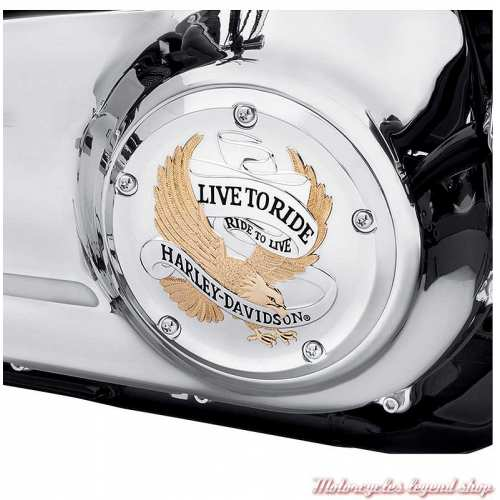 Trappe d'embrayage Live to Ride Harley-Davidson Softail, gold et chrome, visuel, 25700961