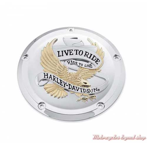 Trappe d'embrayage Live to Ride Harley-Davidson, Touring, gold, chrome, 25700472