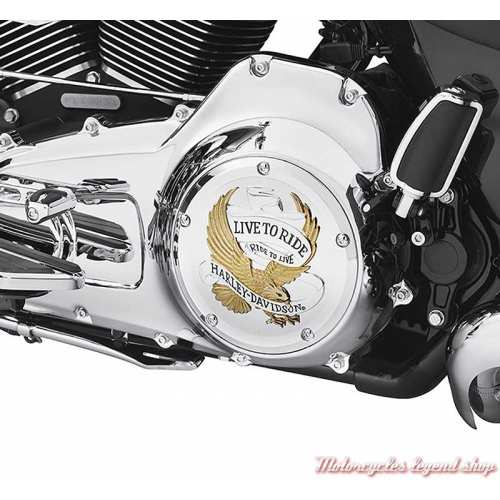 Trappe d'embrayage Live to Ride Harley-Davidson, Touring, gold, chrome, visuel, 25700472