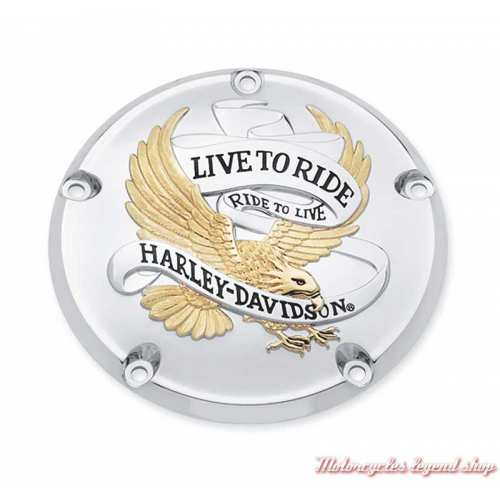 Trappe d'embrayage Live to Ride Harley-Davidson, gold et chrome, 25340-99A
