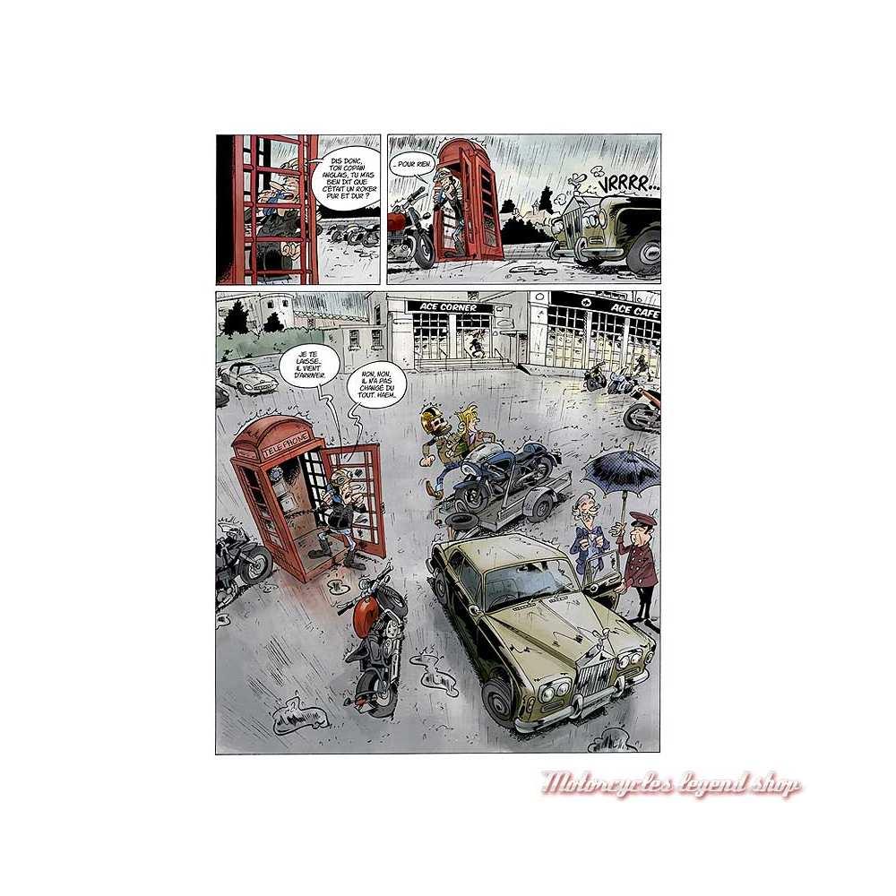 BD Triumph Riders Club Tome 2 Coup de kick à Notting Hill, 48 pages, Pat Perna et frédéric Coicault, éditions Robinson,