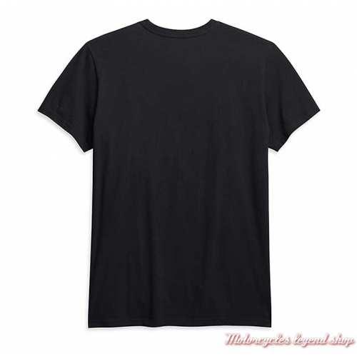 Tee-shirt Skull Harley-Davidson homme, noir, manches courtes, coton, dos, 96045-21VM