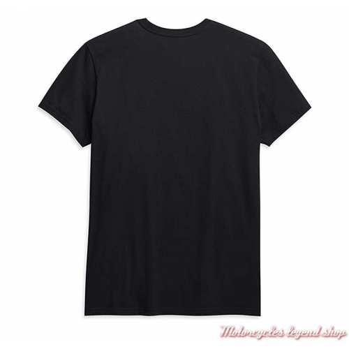 Tee-shirt Stacked Harley-Davidson homme, noir, manches courtes, coton, dos, 96276-21VM