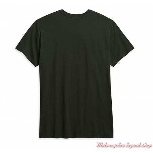 Tee-shirt Bar Bite Harley-Davidson homme, gris vert, manches courtes, coton, dos, 96278-21VM