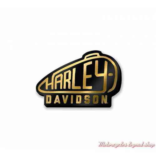 Pin's Tank Harley-Davidson, métal, émail, noir, doré, 97681-21VX