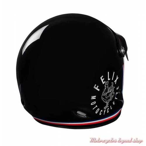 Casque ST520 Signature Felix Motocyclette, noir brillant, dos
