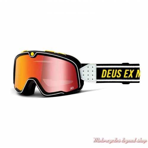 Masque The Barstow Deus Ex Machina 100%, écran rouge iridium