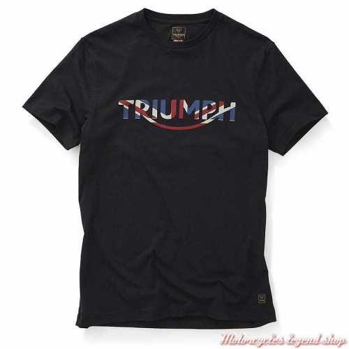 Tee-shirt Orford homme Triumph, noir, manches courtes, coton, Union Jack, MTSS20021