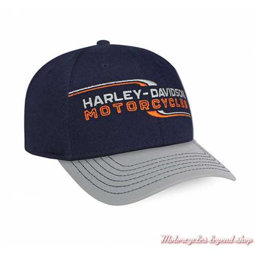 Casquette Lineation Harley-Davidson, nany, gris, orange, réglable, BCC34031